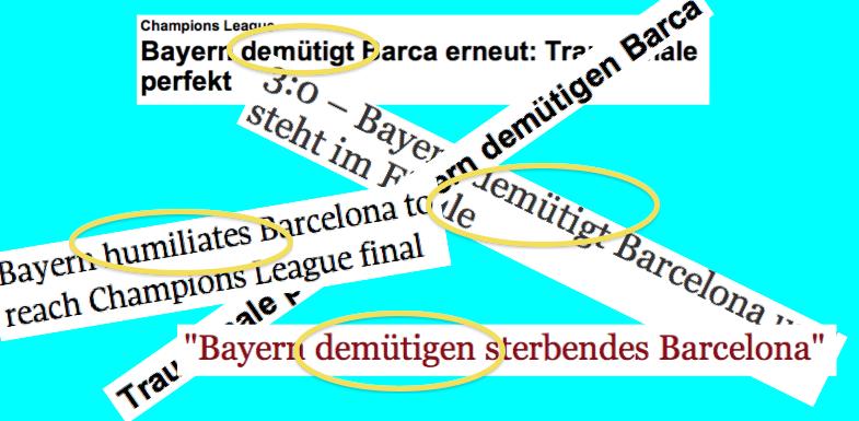 Bayern demuetigt Barcelona