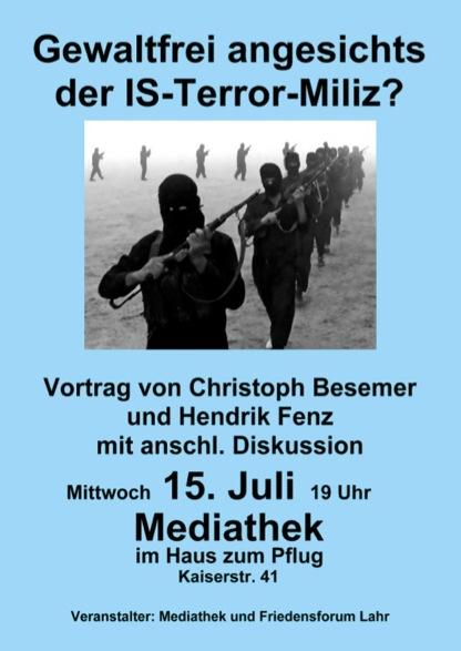Gewaltfrei angesichts der IS-Terror-Miliz?